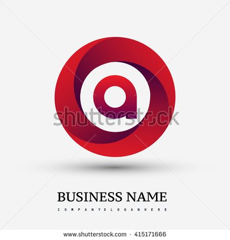 A letter logo in the red circle. Vector design template elements for your application or company identity. - stock vector