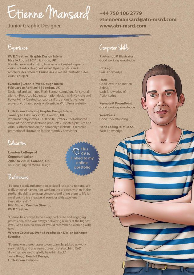 Resume for graphic designer 89 best Brilliant