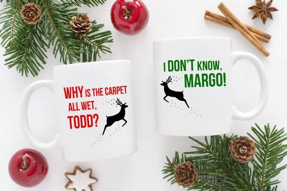 National Lampoon Christmas Vacation Mug | Margo & Todd | Chevy Chase | Holiday Gift | Funny Mug Idea | His and Hers | Merry Christmas Mug