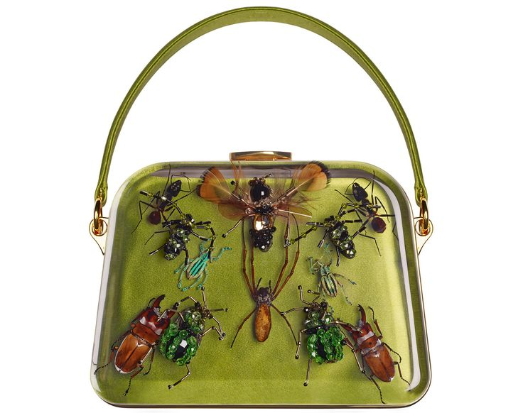 Damien Hirst + Prada entomology bags. Real insects encased in ...