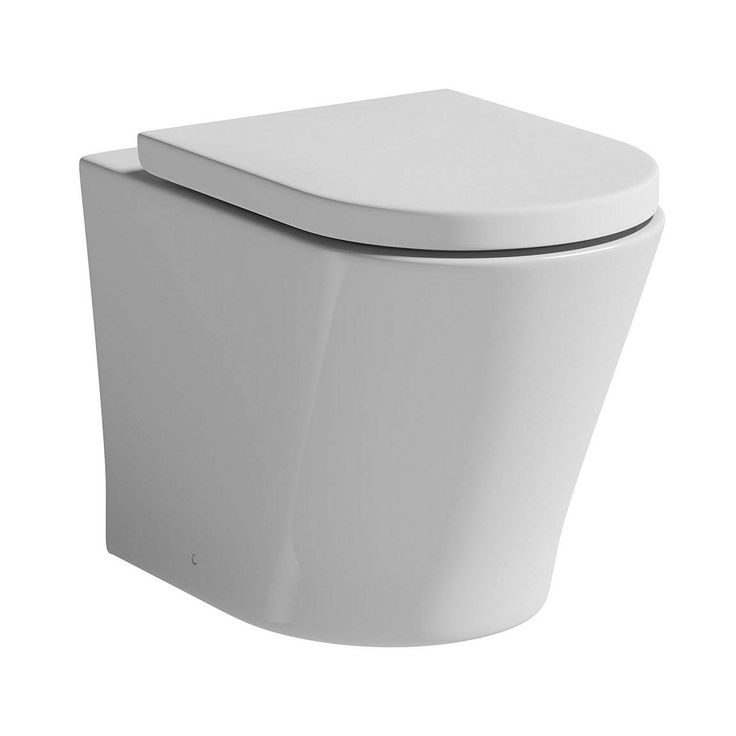 """The <a href=""""http://www.victoriaplumb.com/Bathroom-Suites/Toilets/Back-To-Wall-Toilets/"""" title=""""victoria plumb back to wall toilets"""">Arc back to wall toilet</a> is an ultra chic and stunning design. The beautifully formed full bodied shape and smooth lines makes the Arc bathroom suite an exclusive designer range. Crafted from high quality white vitreous china and complete with a soft closing seat the Arc bathroom suite will create a prominent and intense look in your new Victoria Plumb…"""