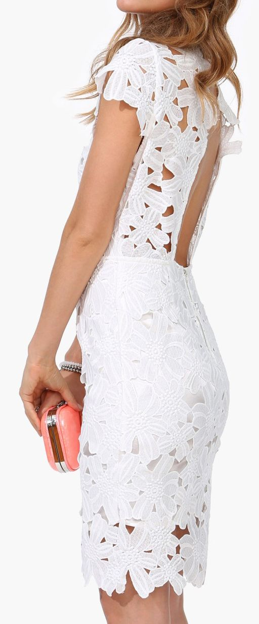 Lace pencil dress this would be gorgeous in neon pink or electric blue