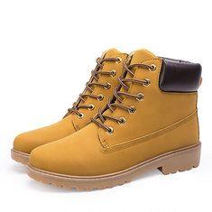 #Banggood Теплая зима хлопка зашнуровать круглый носок короткие сапоги для мужчин (1109601) #SuperDeals