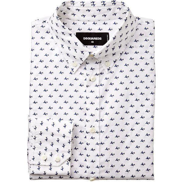 Printed Cotton Shirt (30.740 RUB) ❤ liked on Polyvore featuring men's fashion, men's clothing, men's shirts, men's casual shirts, mens base layer shirts, mens slim shirts, mens slim fit shirts, mens button up shirts and mens casual button up shirts
