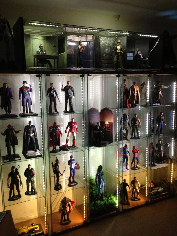 45 best images about action figure display ideas on for Hot toys display case ikea