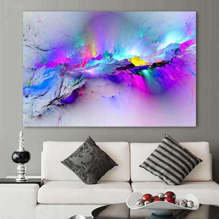 Colorful Clouds Stelario Colorful Canvas Art Modern Canvas Painting Canvas Print Wall