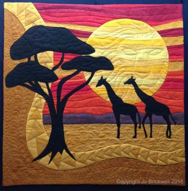 AFRICAN INFLUENCED QUILT.................................PC...................................................................Giraffic Park by Jo Brickwell for Cherrywood's Lion King Challenge