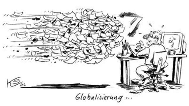 Bumerang. Klaus Stuttmann zeichnet aus Erfahrung - für die Ansicht der ganzen Karikatur auf das Lupensymbol klicken.
