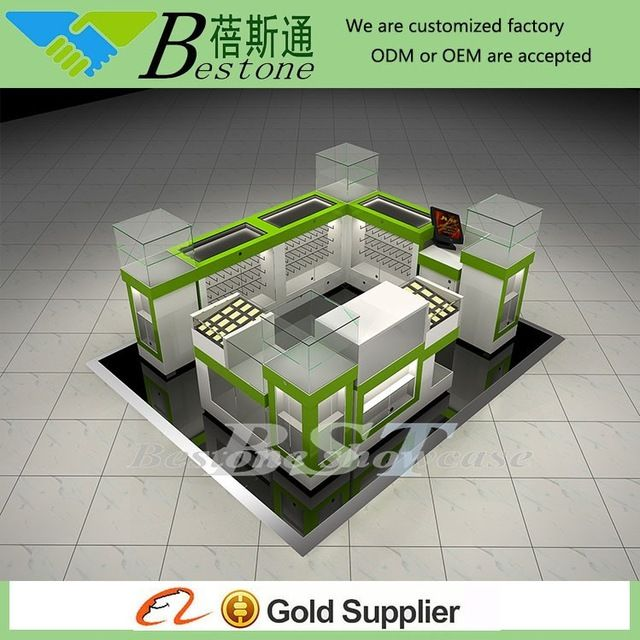 Source cell phone accessories display showcase kiosk for shipping mall on m.alibaba.com
