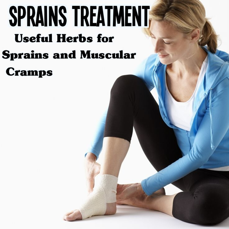 Sprains Treatment – Useful Herbs for Sprains and Muscular Cramps