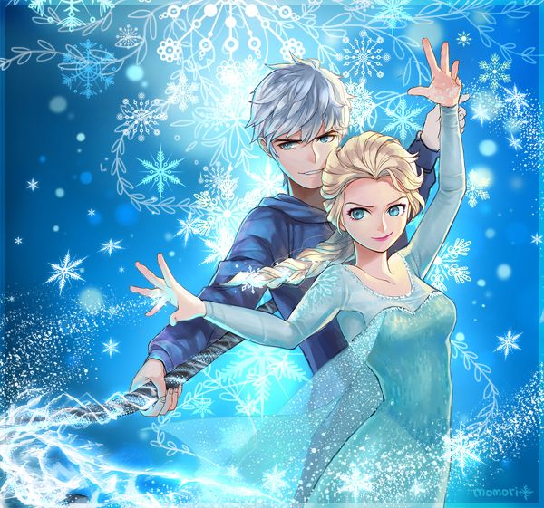 One of my favorite ships is Elsa and Jack Frost. Their so much alike and make a cute couple