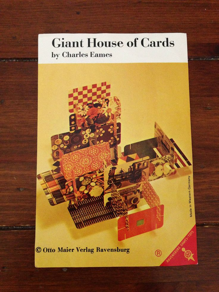 1960s vintage Eames Giant House of Cards by Otto Maier ...