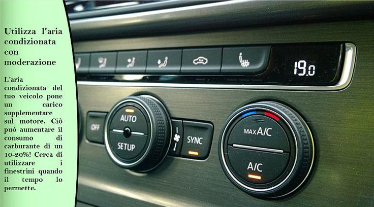 Utilizza l'aria condizionata con moderazione L'aria condizionata può utilizzare circa il 10 per cento del carburante quando è in funzione. Tuttavia, se si guida a più di 80 km/h, usare l'aria è meglio per il consumo di carburante rispetto ad aprire i finestrini. #pneumaticiestivi