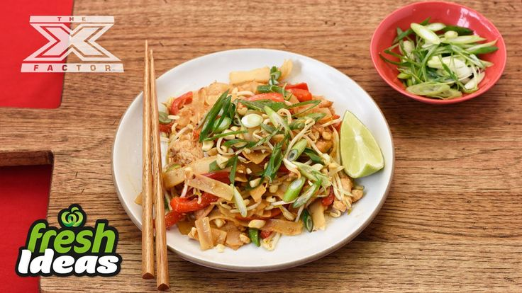 Pad Thai Recipe with Chicken - with Luke Jacobz from The X Factor #Woolworths #Recipe #FreshFoodPeople #FreshIdeas #Video #XFactor #LukeJacobs #Pad #Thai #Chicken