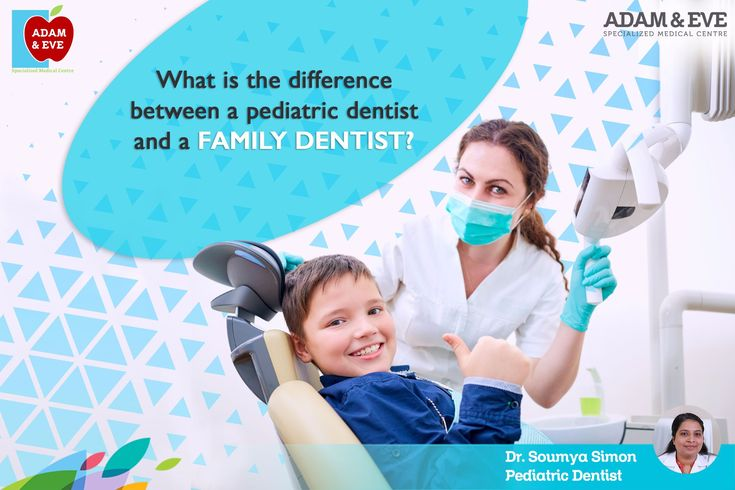 Pediatric dentists are the pediatricians of dentistry. A pediatric dentist has two to three years specialty training following dental school and limits his/her practice to treating children only. They are primary and specialty oral care providers for infants and children through adolescence, including those with special health needs.   #Pediatricdentists #Familydentist #aesmc   ADAM