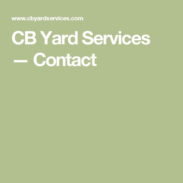 CB Yard Services — Contact