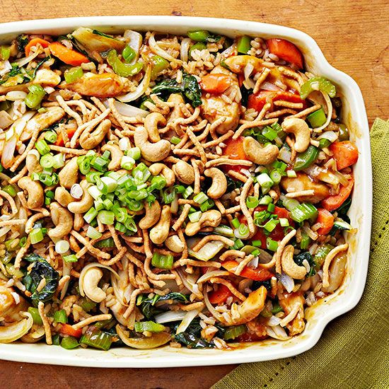 Garlic Cashew and Chicken Casserole Healthy Chicken Casserole Recipes under 400 Calories