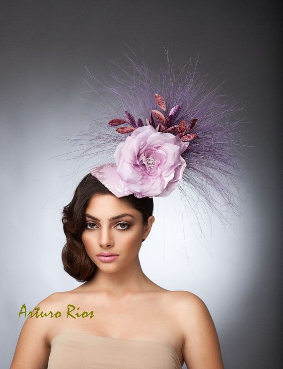 Lilac Fascinator cocktail hat Kentucky Derby hat by ArturoRios, $210.00