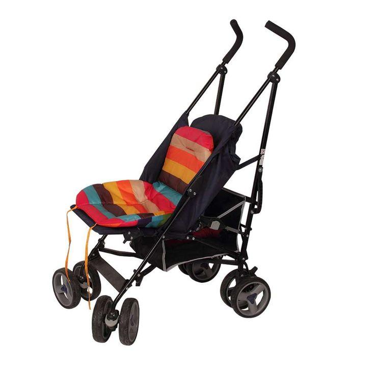 New Waterproof Baby Stroller Cushion, Pram Pad,Baby Chair/Car Seat Pads Stroller Accessories,2 Side Strips