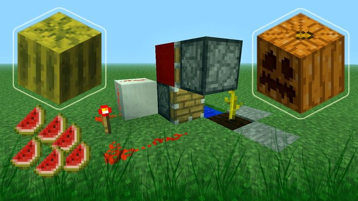 Minecraft How to Build a Fully Automatic Melon and Pumpkin Farm