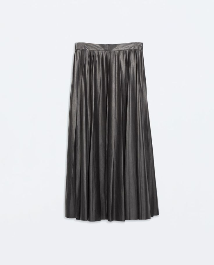Image 7 of LEATHER-EFFECT LONG SKIRT from Zara