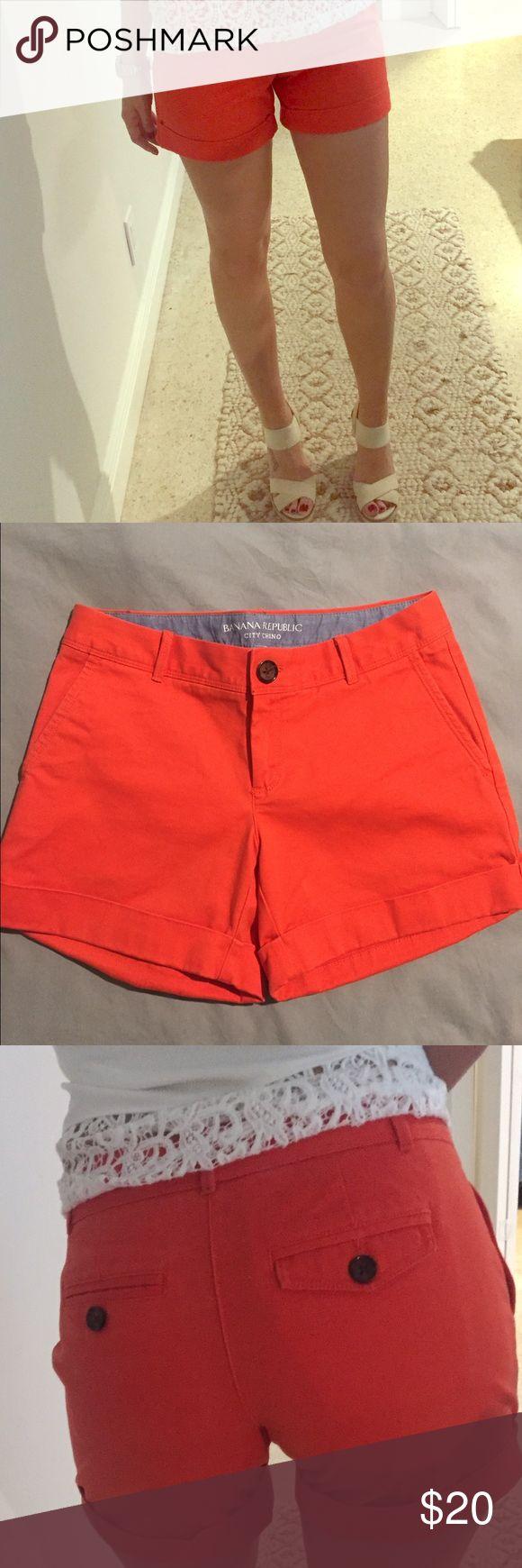 Orange cuffed banana republic shorts Orange cuff chino shorts from Banana Republic Banana Republic Shorts