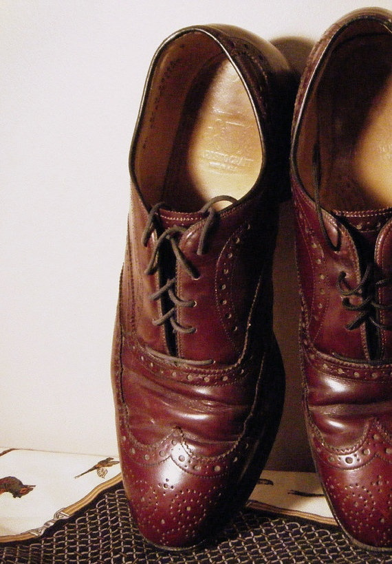Mens Oxford Wingtips Johnson Murphy by DiscriminatingDames on Etsy, $70.95