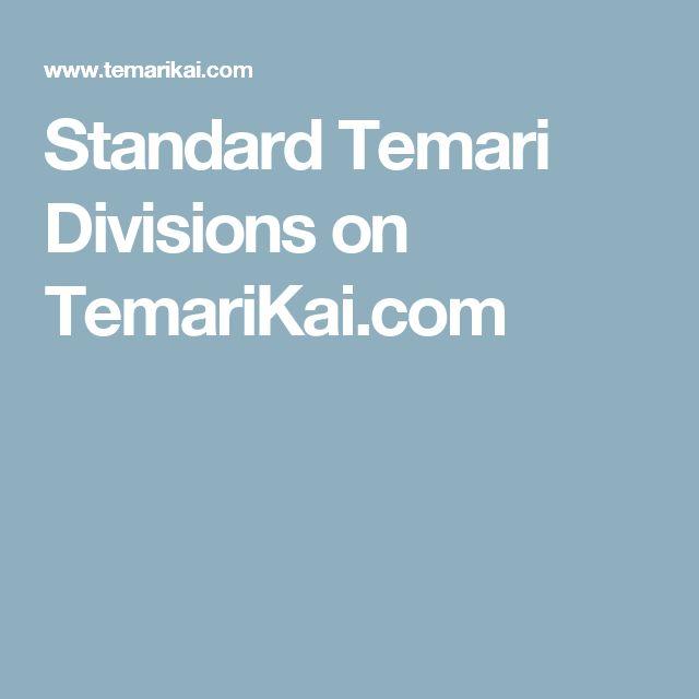 Standard Temari Divisions on TemariKai.com