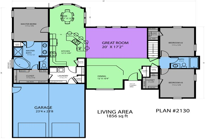 Plan 2130 secluded master suite home floor plans for Advanced home designs