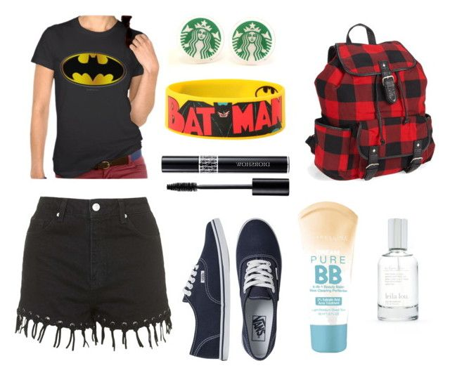 a little batman by polina-komarova on Polyvore featuring мода, Topshop, Vans, Aéropostale, Christian Dior, Splendid and Maybelline