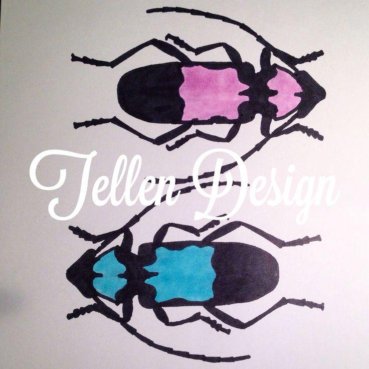 Markers on paper #tellendesign #art #bug #marker