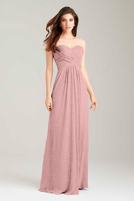 #BridesmaidDresses. Style 1474 in #dusty rose. Allure Bridals