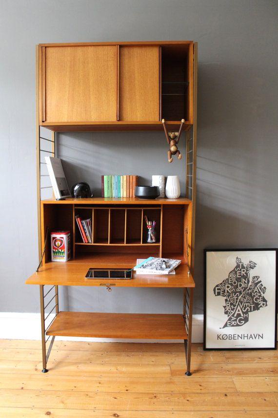 Vintage mid century Ladderax modular shelving by OwlAndTheElephant