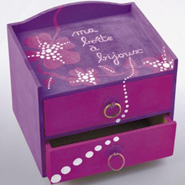 440 mejores im genes de cajas en pinterest cajas arte - Como hacer un joyero de madera ...