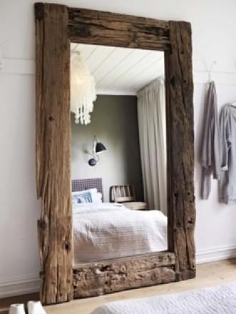 gorgeous drift wood mirror