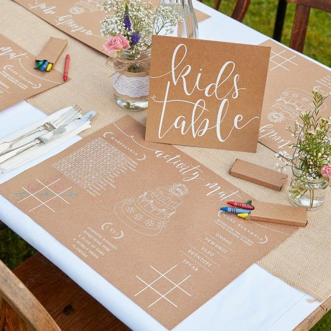 Kinderfreundlich und kreativ: So dekorieren Sie die Kinderecke bei der Hochzeit!   – Tischdeko