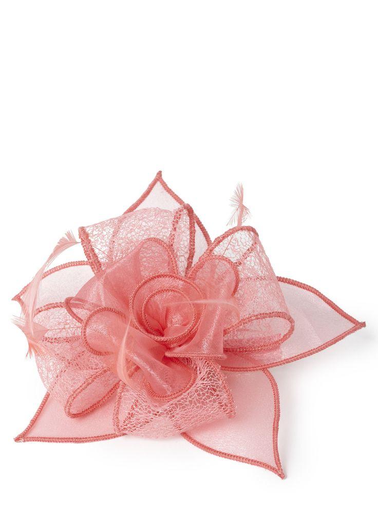 Pink Lace Rose Clip Fascinator - Fascinators - Women - BHS