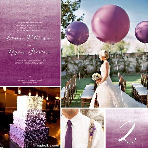 Wedding Theme Inspiration Ombre Plum Perfection