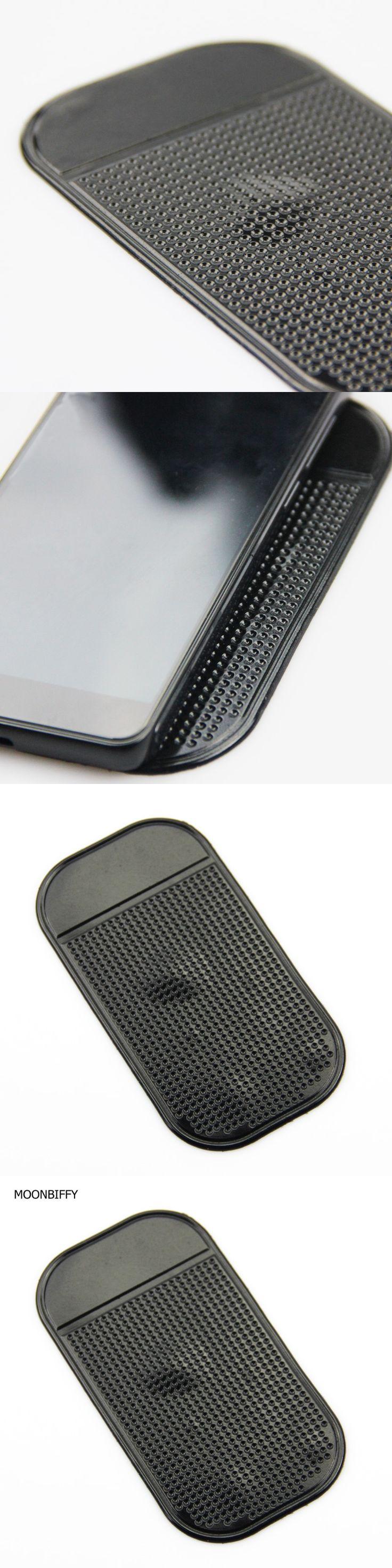 MOONBIFFY Anti-Slip Car Dashboard Sticky Pad Non-Slip Mat GPS Mobile Phone Holder Black Color