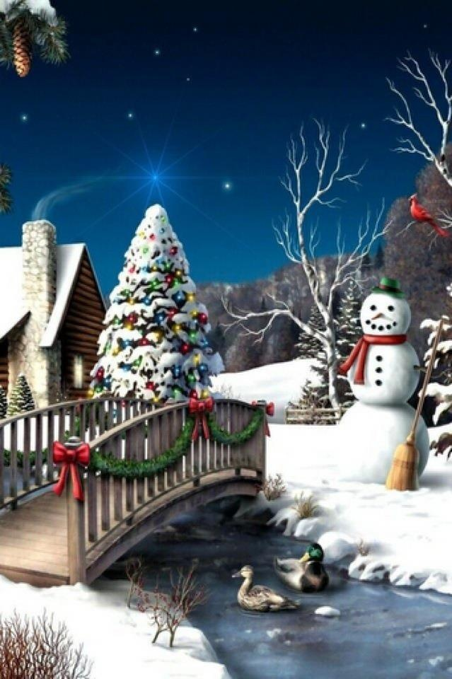 Winter Wonderland...some of my favs....Snowmen, Christmas trees and Red Birds.