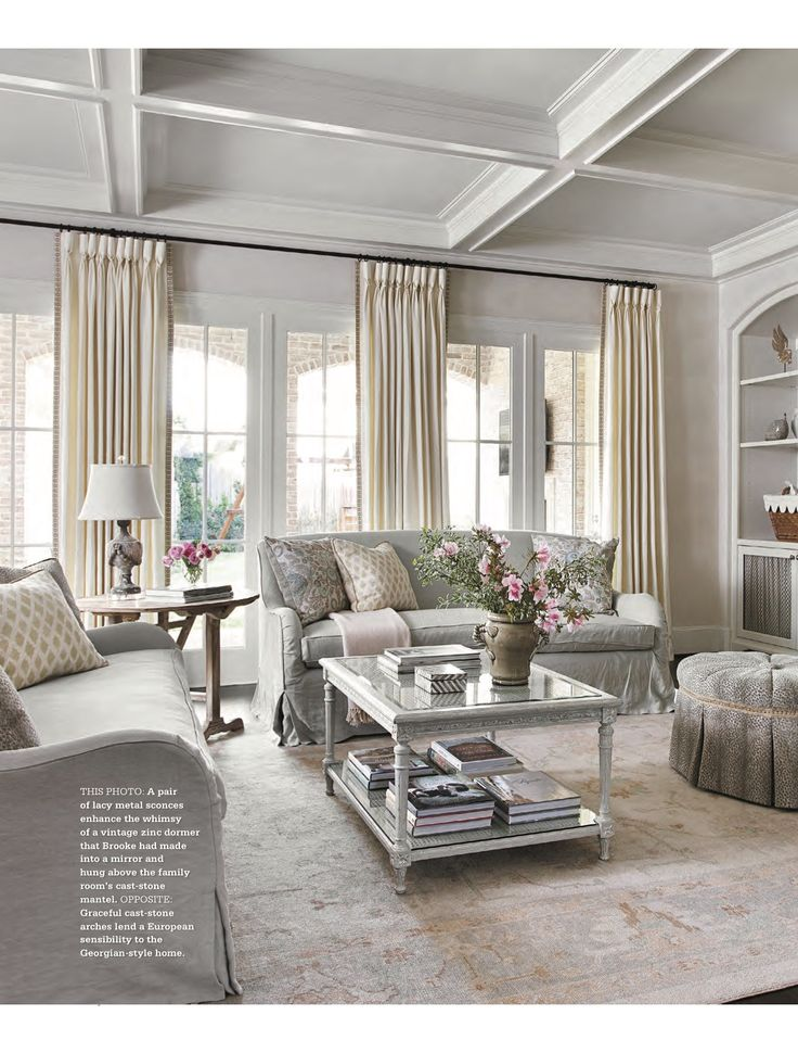 gorgeous living room design by brooke mcguyer hutson featured in the fallwinter issue of country french magazine produced u0026 styled by donna talley