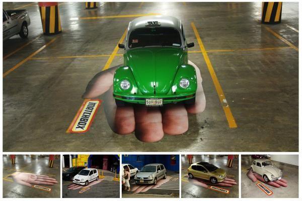 Carpark advertising for Matchbox.