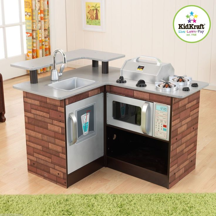 KidKraft Kidkraft Chillinu0027 U0026 Grillinu0027 Wooden Kitchen Chill And Grill 53311  ...