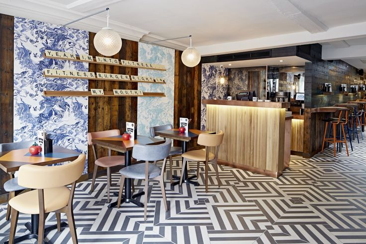 GBK Canterbury Restaurant by Moreno Masey #GBK #Canterbury #MorenoMasey #Architecture #Interiors #2015 #Restaurant #Tiling #Wallpaper #Timber #Copper