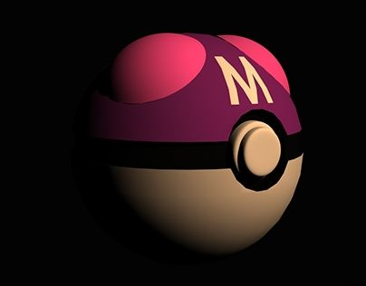 """Check out new work on my @Behance portfolio: """"Model 3D - Master Ball """"HD"""""""" http://on.be.net/1HQClJA"""