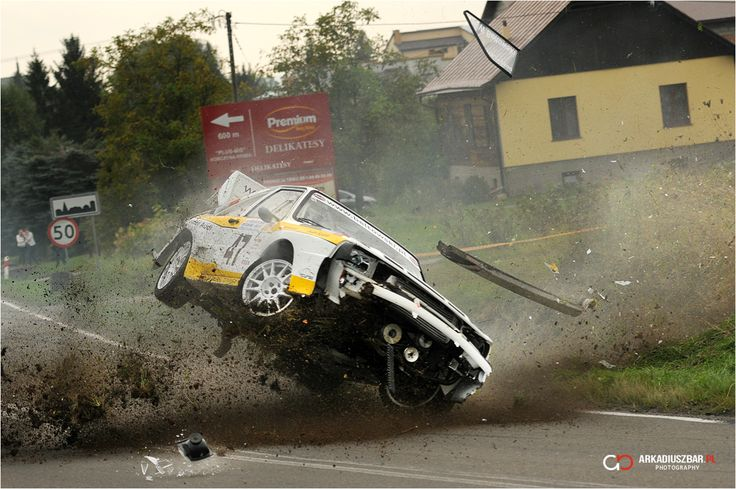 Audi Quattro crash...