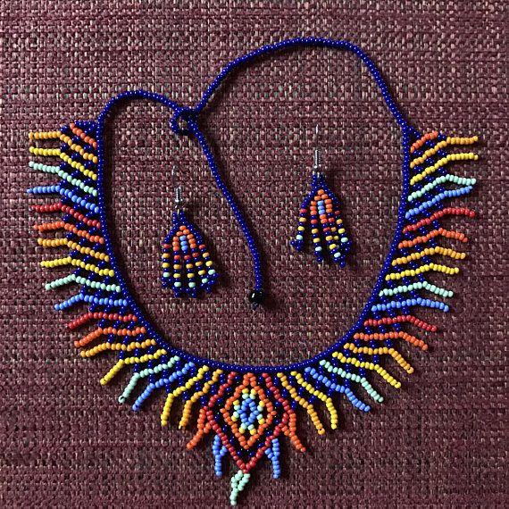 Gargantilla de diamantes de Embera y pendiente Combo / /