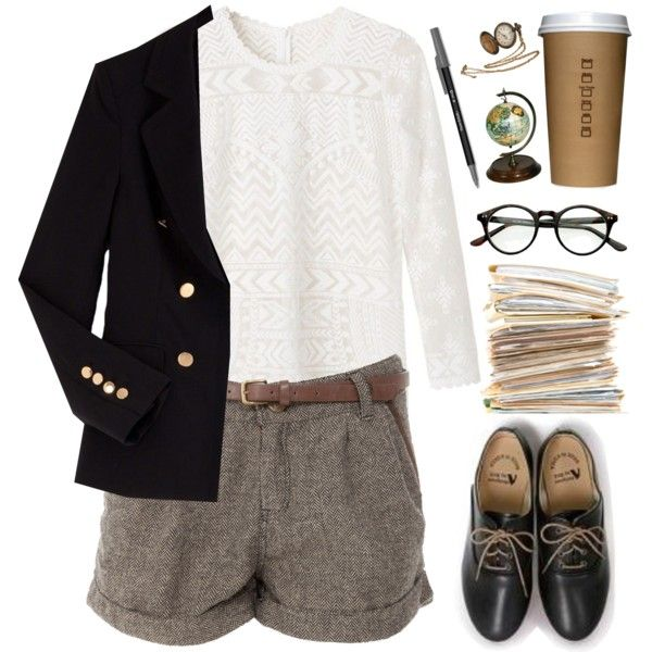 """Add some black tights and it's ready for a winter day. """"The receptionist"""" by jocelynjasso2005 on Polyvore"""