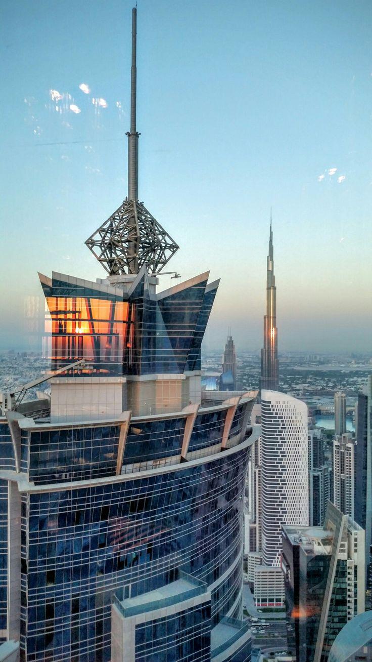 Burj Khalifa in the distance.