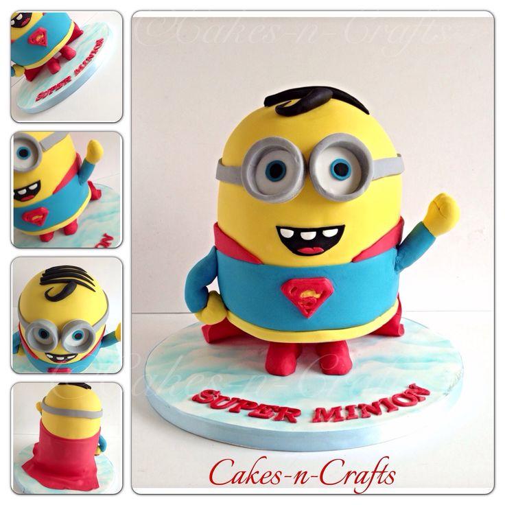 Standing super man minion!  - Standing Super man minion! Vanilla cake and edible sugar details